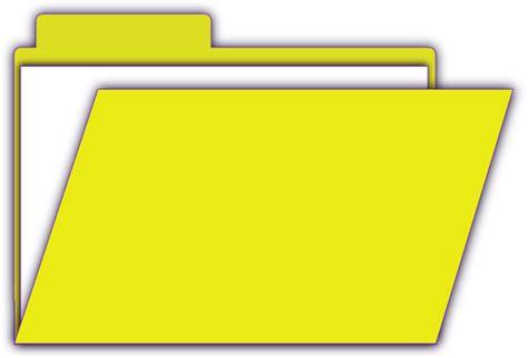 yellow open file clip art  clkercom vector clip art