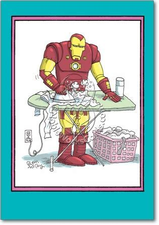Iron Man Mother's Day Funny Greeting Card NobleWorks