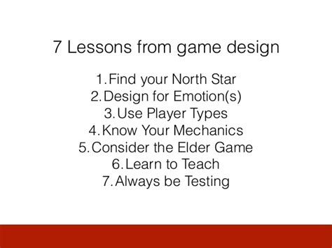 game design lessons mechanics of magic seven lessons from game design