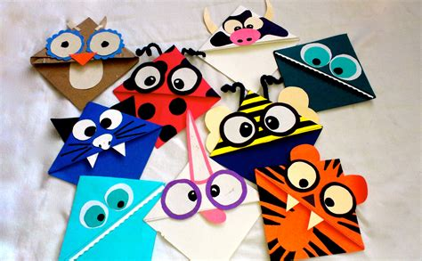 Paper Bookmarks - 25 different ways to make and create your own bookmarks