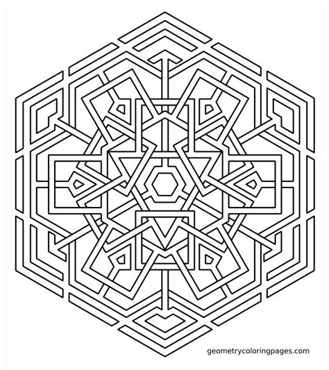 coloring pages printable geometric coloring page celtic snowflake sacred geometry
