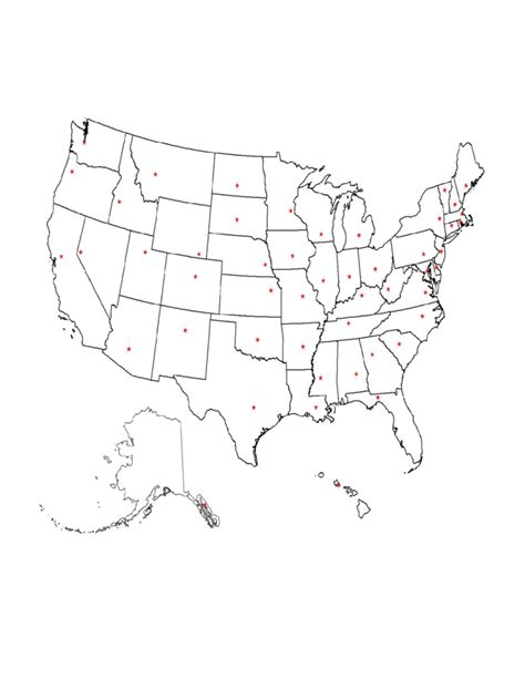printable map locations printable state capitals location map free download