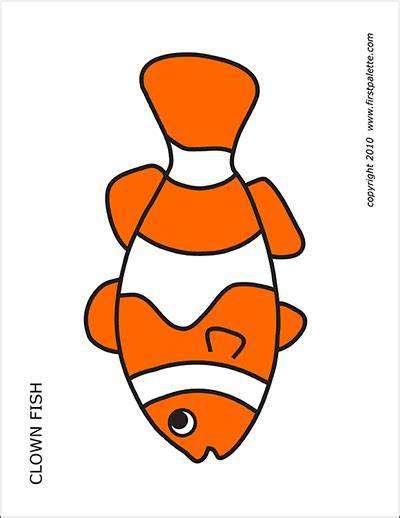 clown colors coral reef fishes free printable templates coloring
