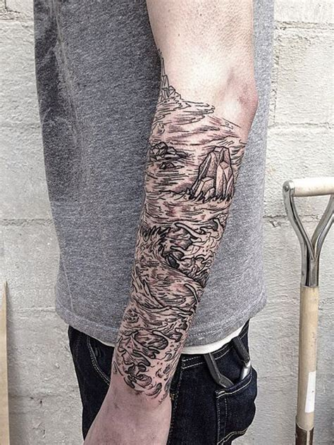 mountain tattoo sleeve 40 awesome mountain designs for and