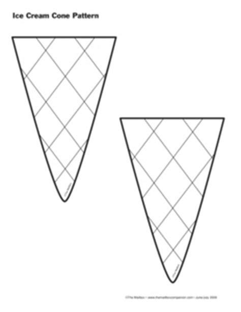 pattern for ice cream cone craft pictures to pin on