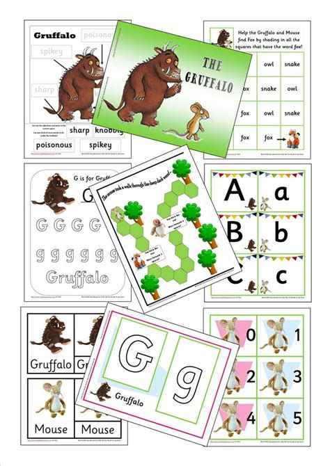 story themed activities 10 best the gruffalo teaching ideas images on pinterest
