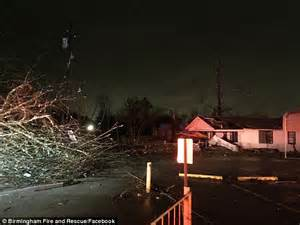tornado hits birmingham alabama trapping people in