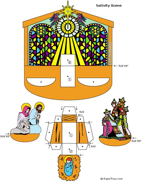 Nativity Paper Craft - nativity paper cutouts by papertoys