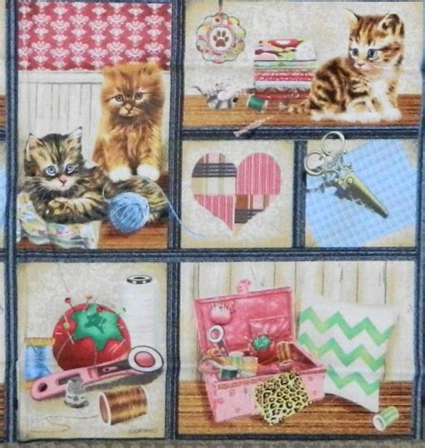 Patchwork And Quilting Fabrics Uk - patchwork quilting sewing fabric crafty kitten quilt