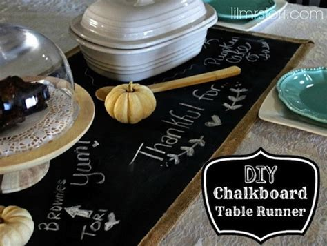 Chalkboard Table Runner by Diy Table Runner Chalkboard Fabric
