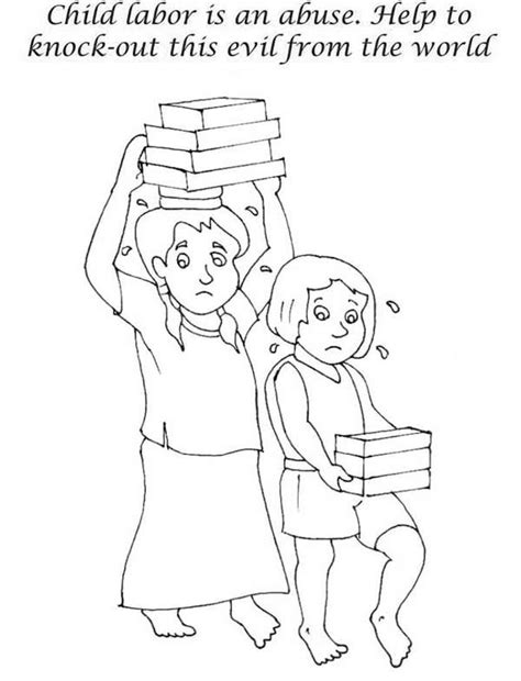 coloring pages of child labour stop children labor in labor day coloring page color luna