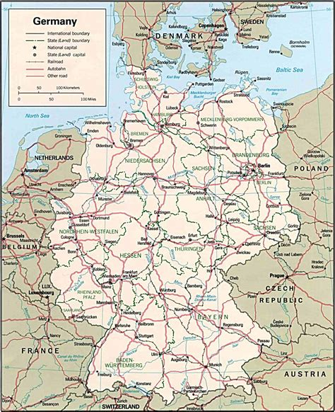 map of deutschland germany karte der bundesrepublik deutschland map of germany