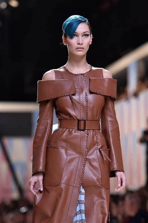 Milan Fashion Week Day Up by Hadid At Fendi Fashion Show At Milan Fashion Week 09