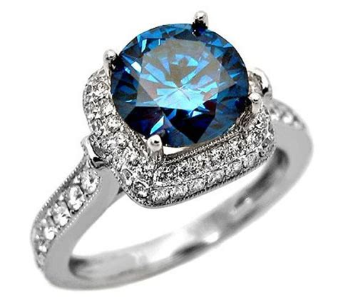 Wedding Rings Blue by Cuts Colors And Shapes Of Diamonds It All