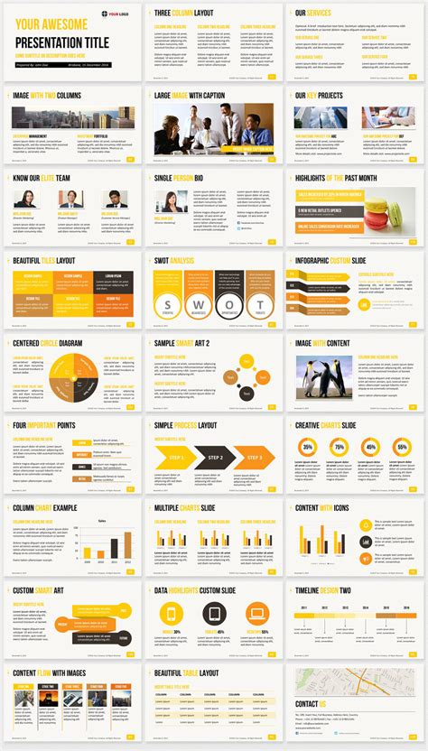 Ultimate Professional Business Powerpoint Template 1200 Clean Slides A Template In Powerpoint