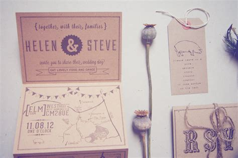 Wedding Invitations Recycled Paper by Helen Steve S Country Inspired Kraft Paper Wedding