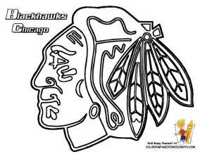 blackhawks chicago hockey free coloring pages pictures