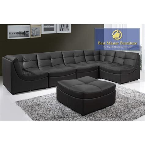 sectional couch pieces 6 piece leather sectional sofa thesofa