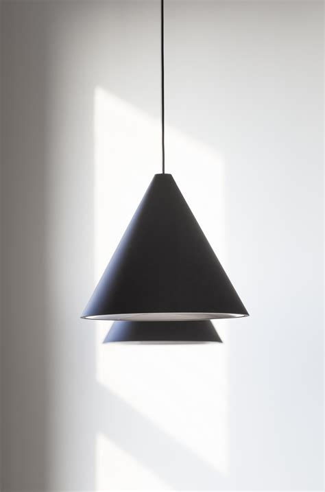 black cone pendant light string light cone pendant cone black by flos
