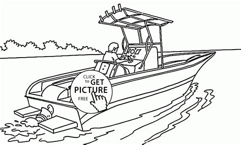 printable coloring pages boats motor boat coloring pages coloring home