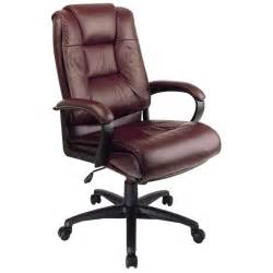 Desk Chair Leather High Back Executive Burgundy Leather Office Desk Chair Ebay