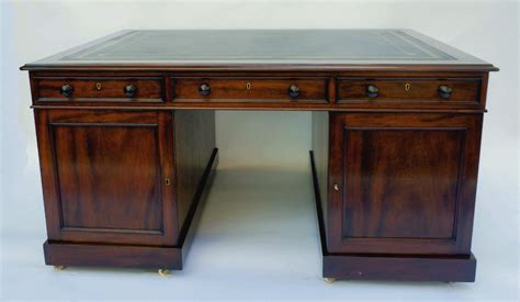 antique mahogany partners desk sn689