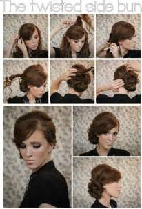 how to do mack hair twisted side bun updo hairstyles tutorial popular haircuts