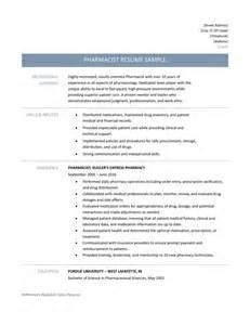 Pharmacist Resume Template Pharmacist Resume Samples Tips And Template Online
