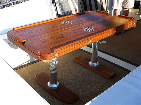 boat deck table transom deck dining photos teak and plastic cockpit
