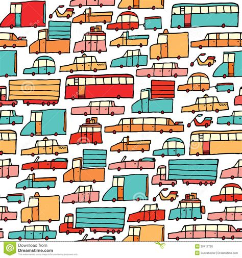 x pattern stock picks cartoon cars seamless pattern stock vector image 30417720