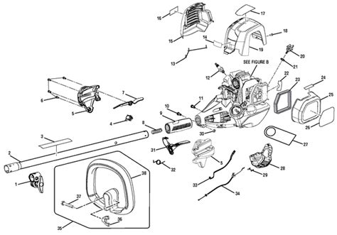 ryobi string trimmer parts diagram ryobi ry34427 30cc string trimmer parts and accessories
