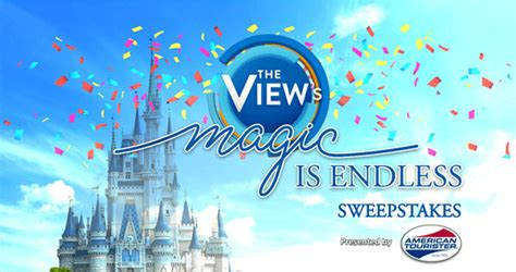 Abc The View Sweepstakes - the view s magic is endless sweepstakes abc com theview