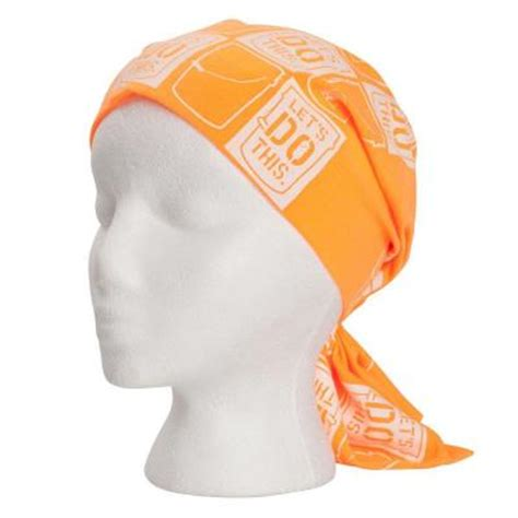 the home depot unisex one size fits most orange fandana