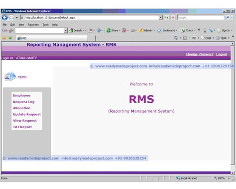 Oracle Rms by Synopsis For Mca Bca Be For Year Student