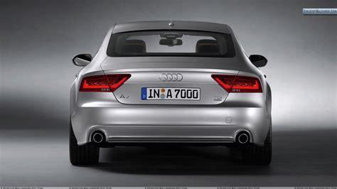 car back audi a7 sportback silver back pose wallpaper