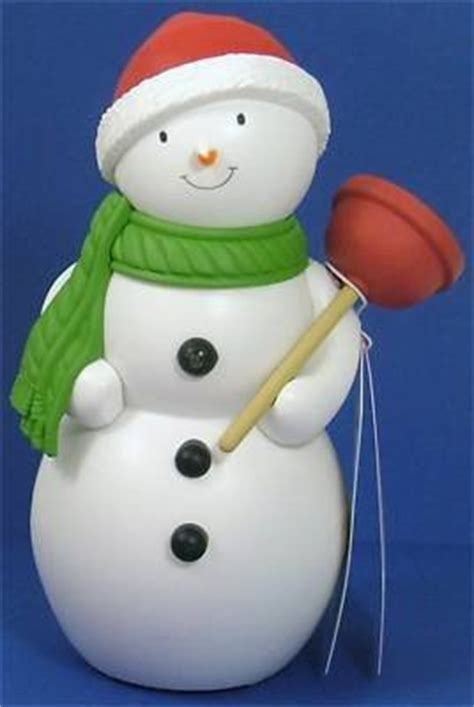 jolly in the john talking bathroom snowman hallmark new