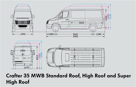 volkswagen crafter dimensions volkswagen crafter 35 utility super high roof trucks on