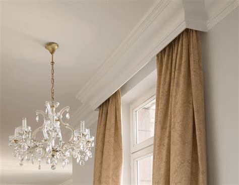 design idea using coving as a pelmet molding ideas cornice and moldings Ideas For Curtain Pelmets Decor