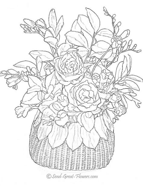 Advanced Coloring Pages Flowers advanced flower coloring pages flower coloring page