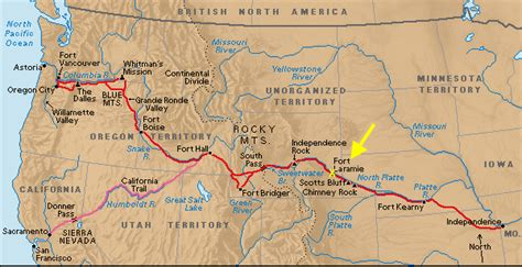map of the oregon trail in the company of plants and rocks should there be trees