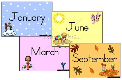 Months Of The Year Printables
