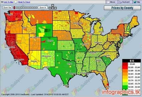 gas price map usa usa national gas price heat map interactive media