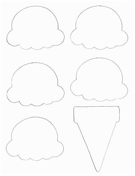 ice cream cone printable new calendar template site