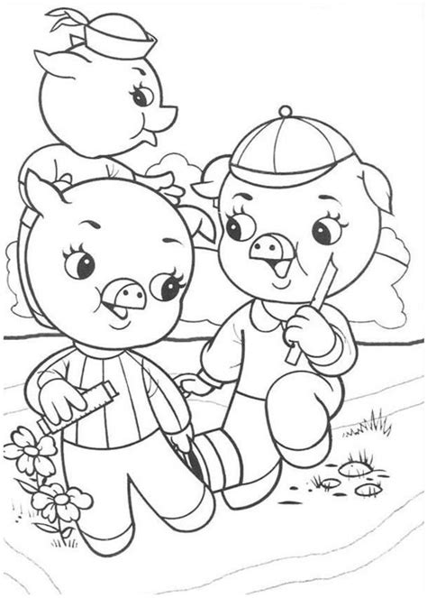 three pigs coloring pages three pig coloring pages coloring home