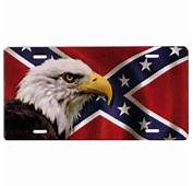 Rebel Flag With Eagle Novelty License Plate  PSS T2929FR