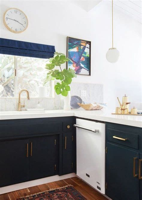 Navy And White Kitchen by Trend Alert Navy Marble Brass In The Kitchen Bath