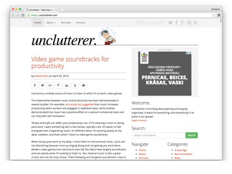 unclutterer daily tips on how to organize your home and the 35 best blogs in productivity to read in 2016 cakehr blog