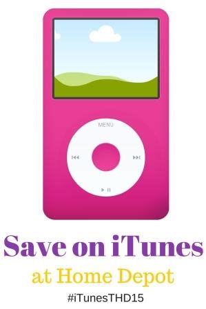itunes gift card print at home save on itunes at home depot itunesthd15
