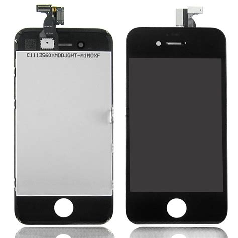 Lcd Iphone 4s Black Fullset apple iphone 4s lcd screen touch digitizer replacement