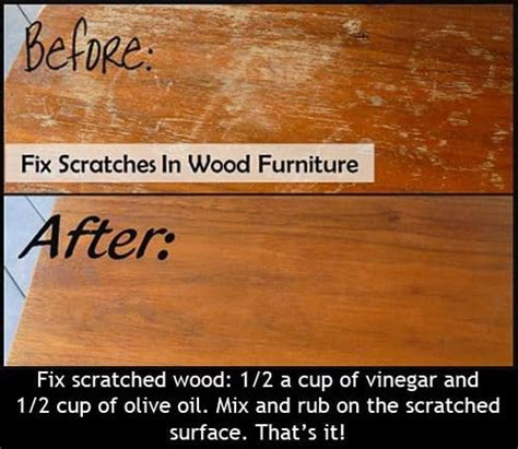 wood table scratch repair 22 hacks you will
